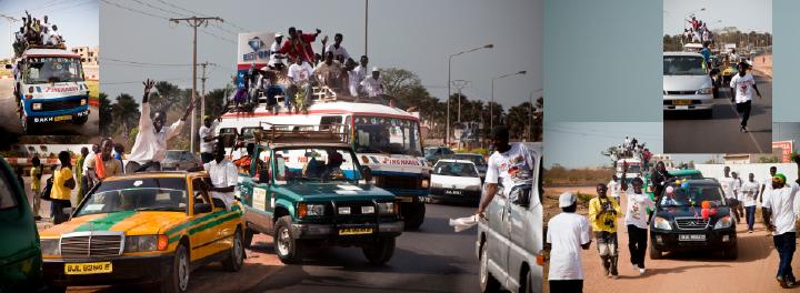 Gambian-style wedding cars