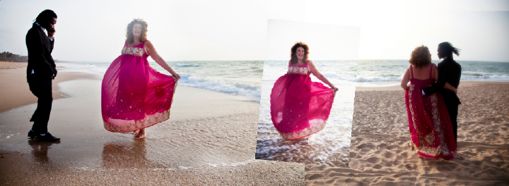 Gambian beach wedding photos