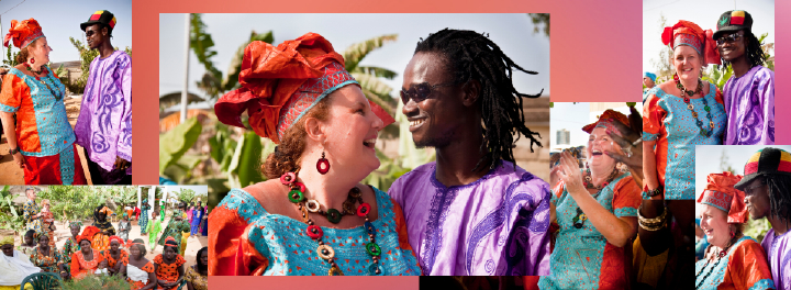 African wedding costumes in The Gambia