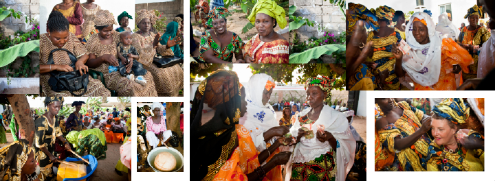 Gifts of money at traditional African wedding