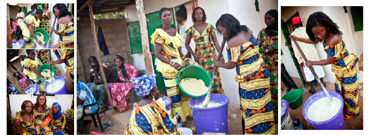 preparation of traditional Gambian wedding drink