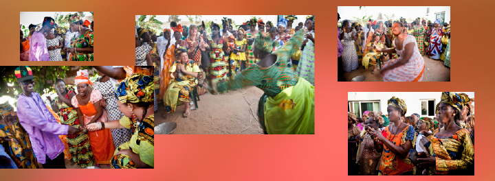 dancing during Gambian wedding celebrations