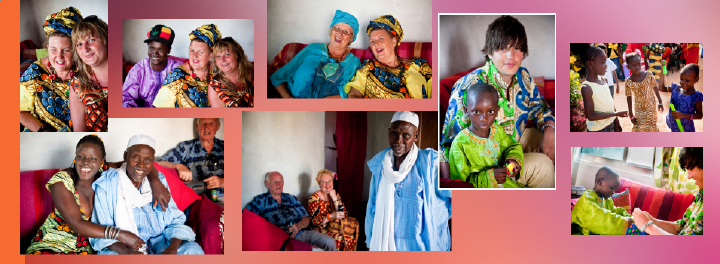 Gambian Inlaws relax with their new British relatives at wedding