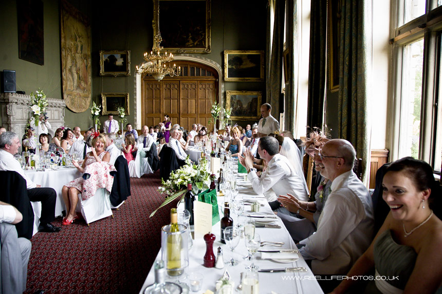 wedding reception at Carlton Towers in the Great Hall dining room