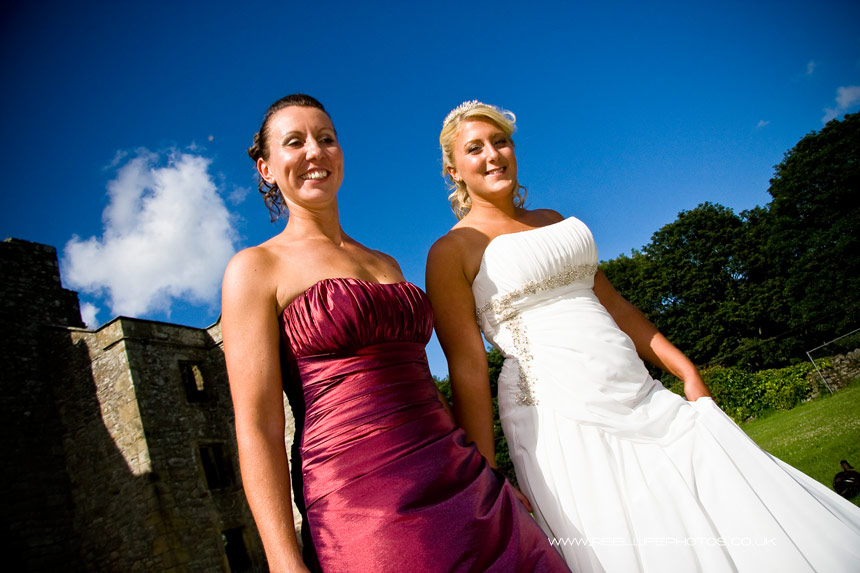 Sarah and Caroline after their Civil Partnership in North Yorkshire, near Skipton