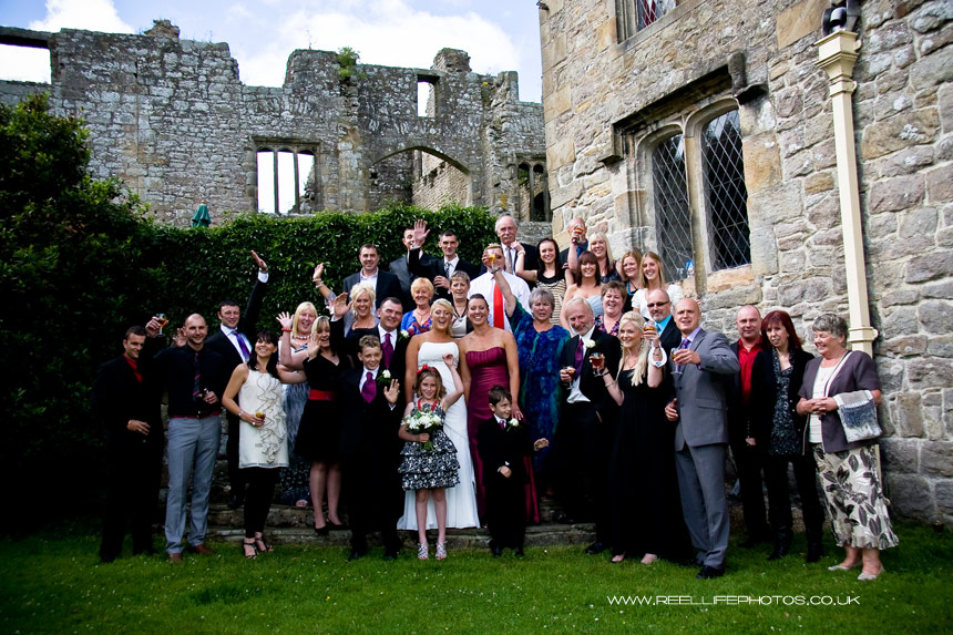 Civil Partnership wedding guests at BardenTower in North Yorkshire