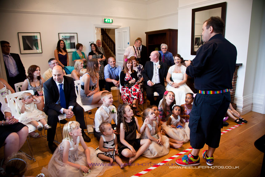 Magic show for big and little guests at Woodlands Hotel in Leeds