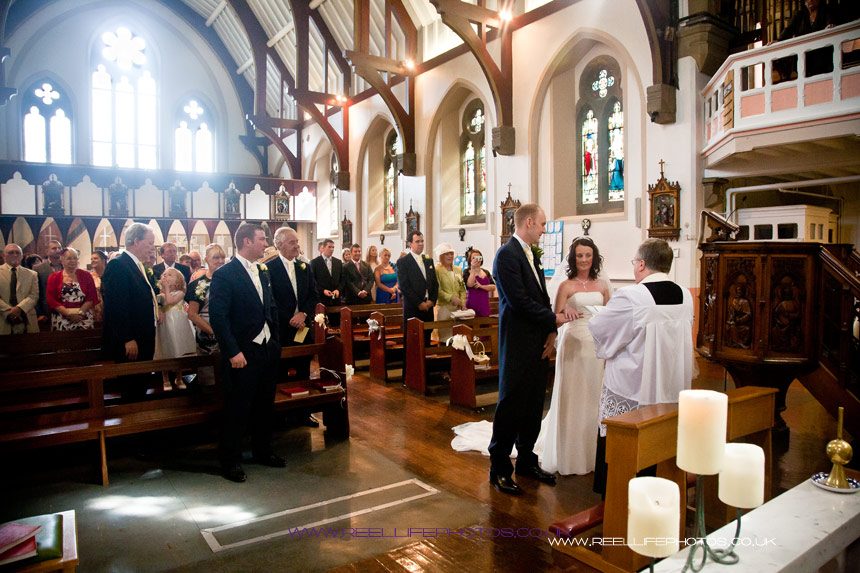 wedding ceremony at St Marys