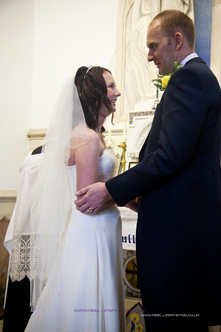 bride and groom just before signing the register
