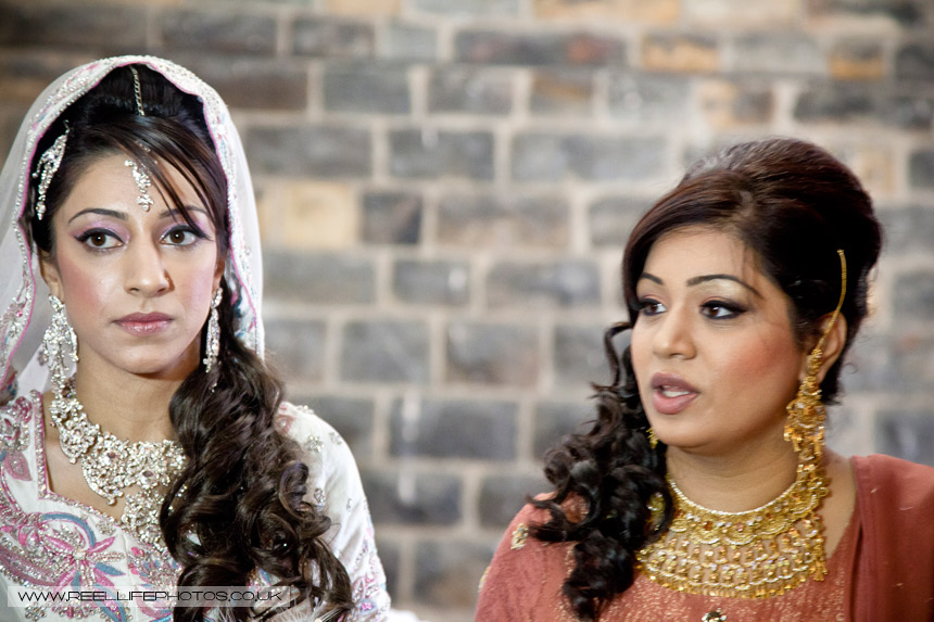 Asian bride arrives at Al Hikmah Centre in Batley