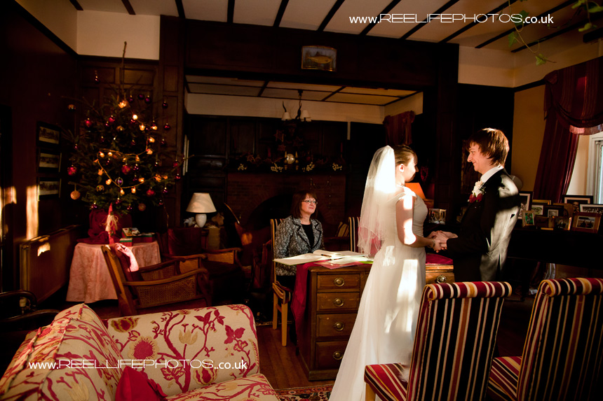 Wedding ceremony at Augill Castle