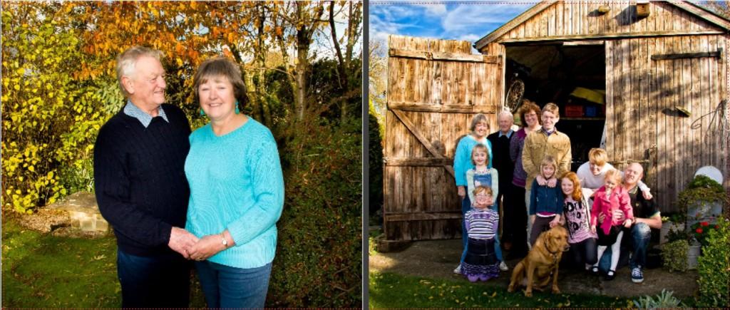 outdoor family photos in album