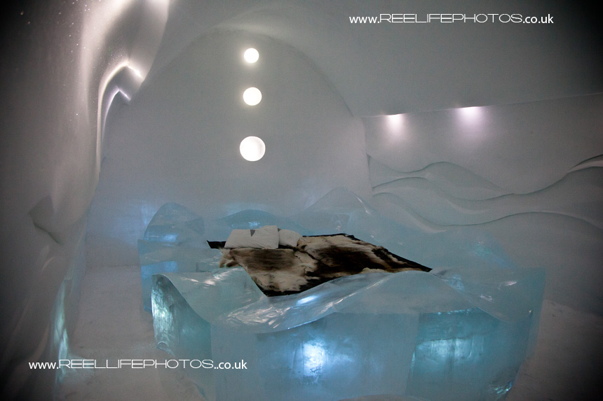 Ice Hotel Art Bedroom