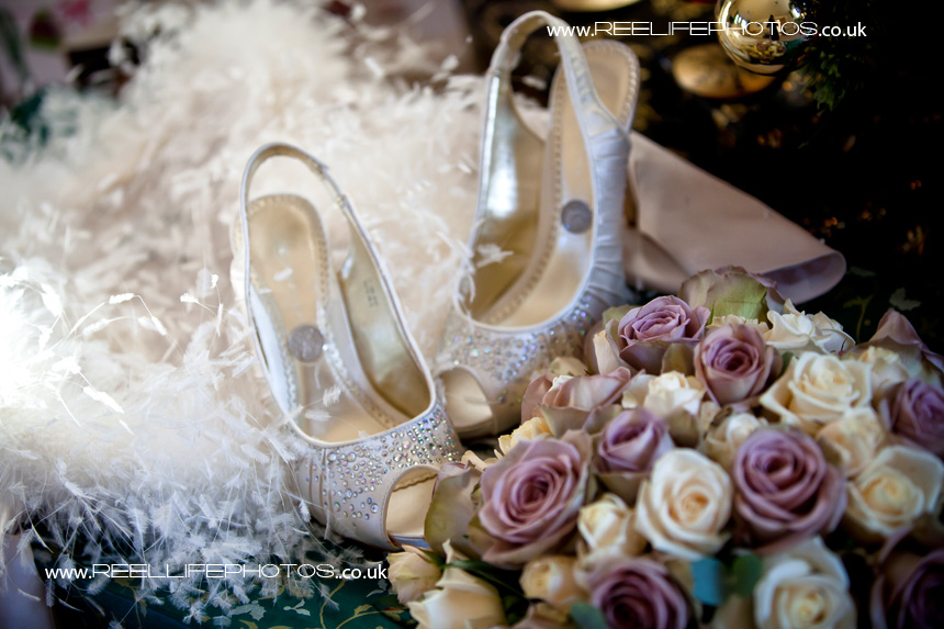 pretty things that bride displays before her wedding in West Yorkshire