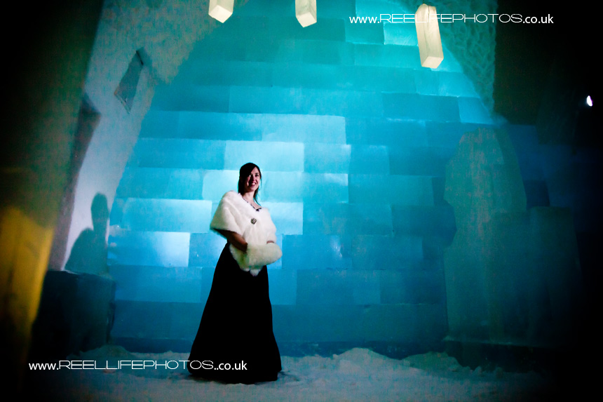 Ice Hotel wedding picture