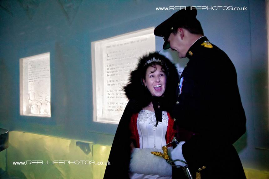 Ice hotel wedding pics