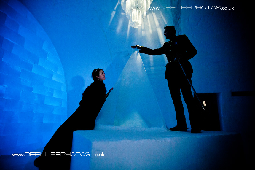 Ice Hotel wedding photo