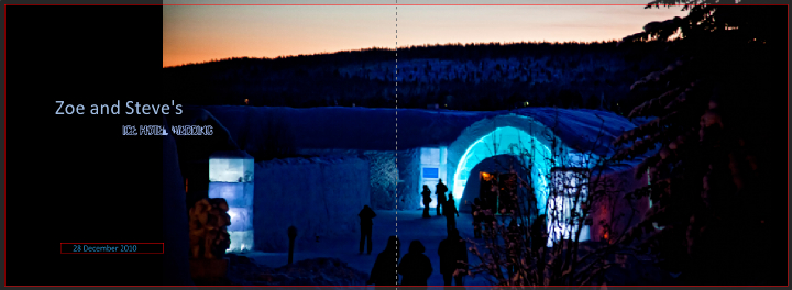 The Ice Hotel in Sweden at Dusk