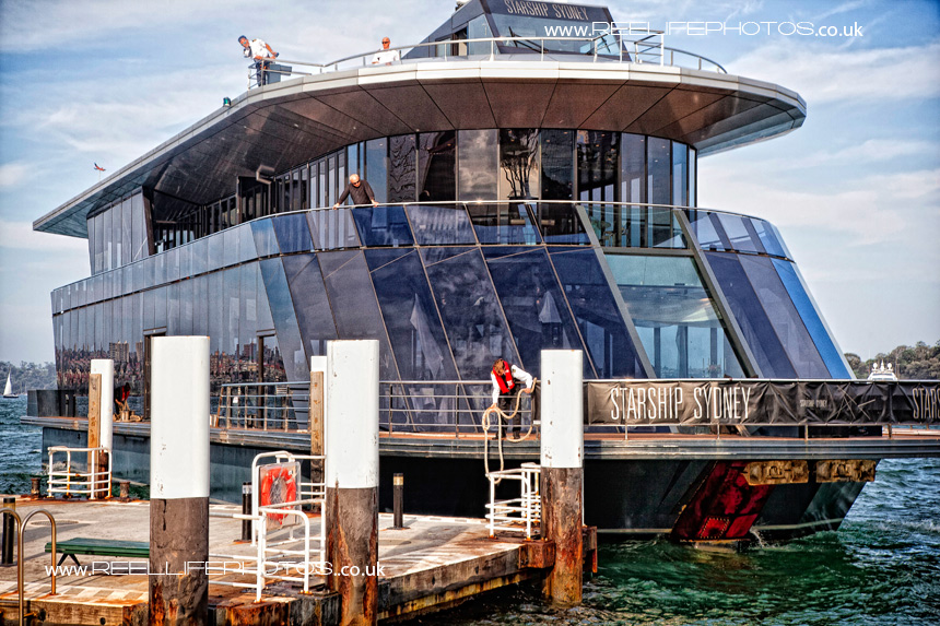 Starship Sydney floating wedding reception venue Sydney