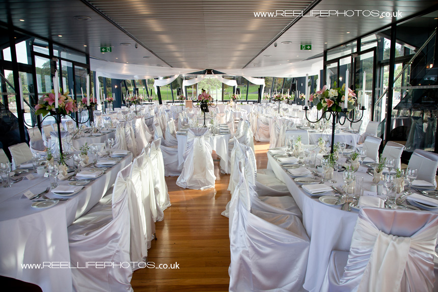 Wedding reception layout on Starship Sydney in Australia