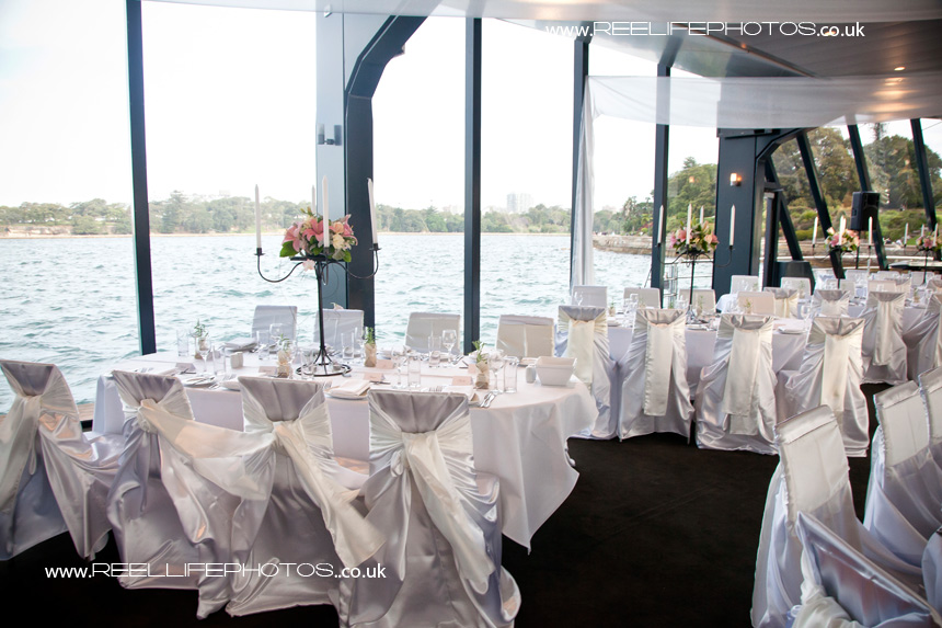 wedding reception afloat in Australia on Starship Sydney