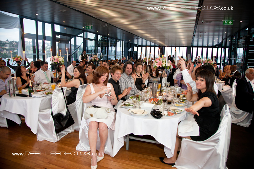 wedding reception on a boat
