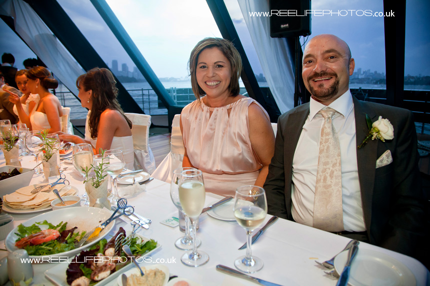 brides parents on top table of Starship Sydney