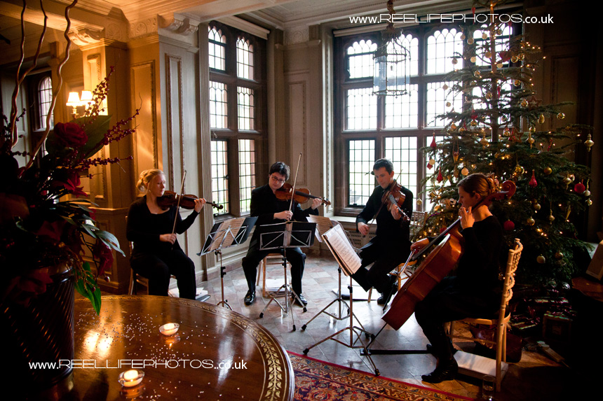 Manchester String Quartet playing at Thornton Manor