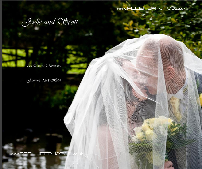 wedding storybook album cover