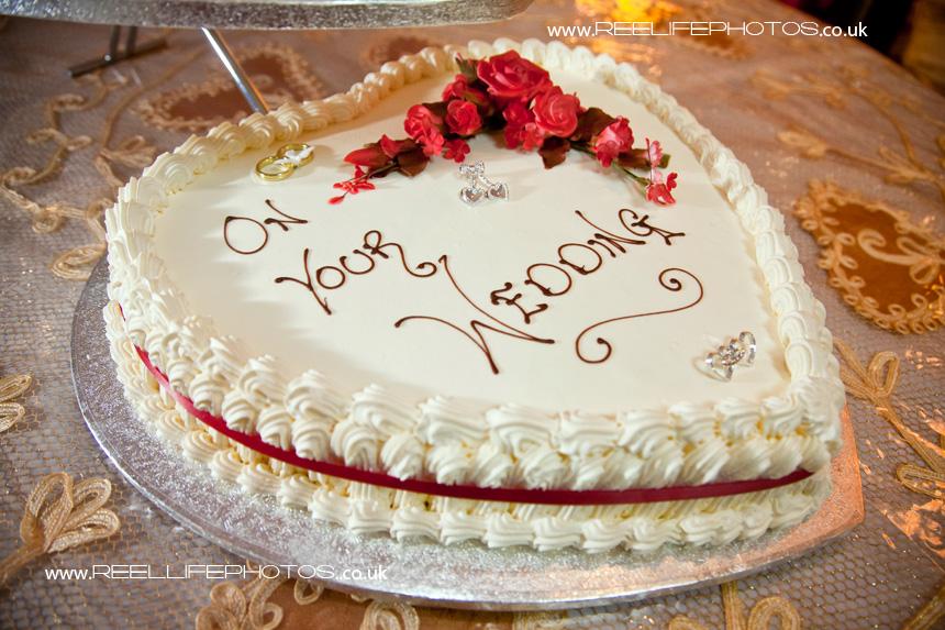 part of the three tier wedding cake