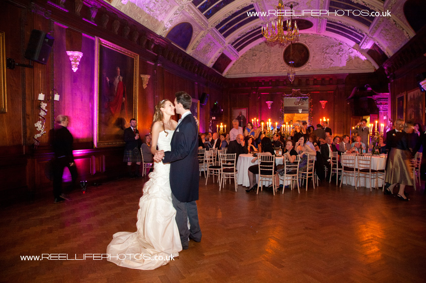 first dance in grand ballroom at Thornton Manor