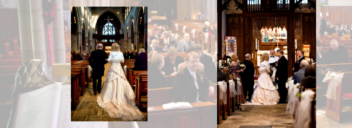 bride walks down the aisle to be given away by her father