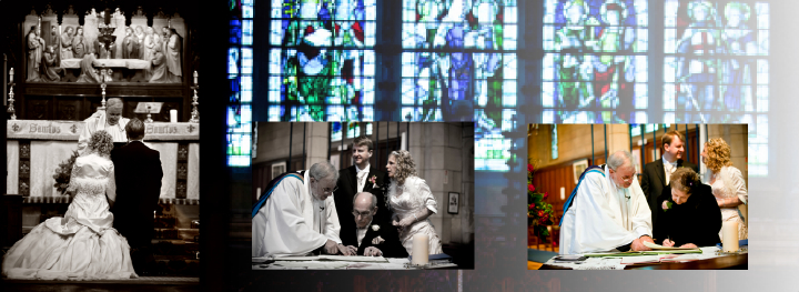 church wedding in St, Barththolomews Marsden