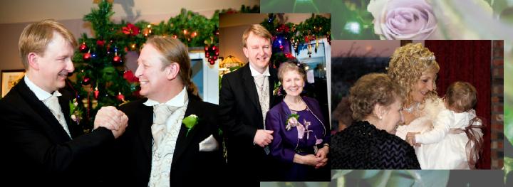 Christmas Eve wedding photos at the Huntsman