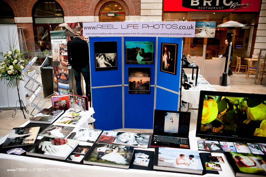 Reel Life Photos storybook wedding albums at wedding fair in the Light in Leeds