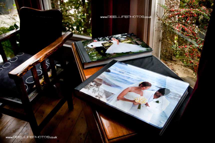Seychelles wedding album and Italian storybook