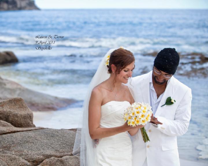 Seychelles beach wedding
