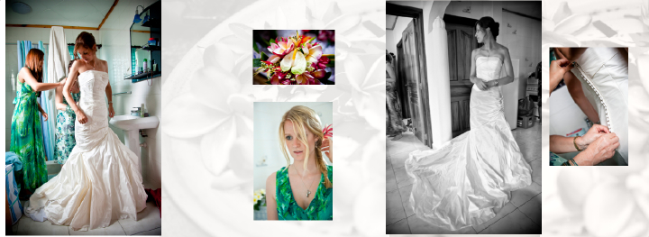wedding photographyt in the Seychelles: bridal prep