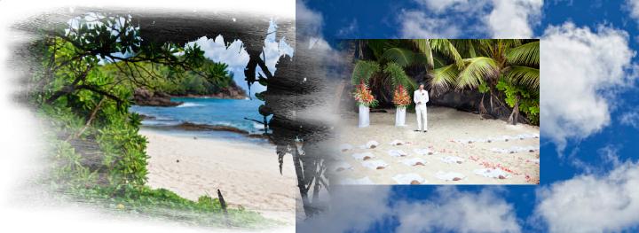 beach wedding ceremony in the Seychelles