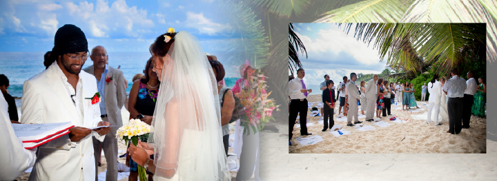 Beach wedding  photography in the Seychelles