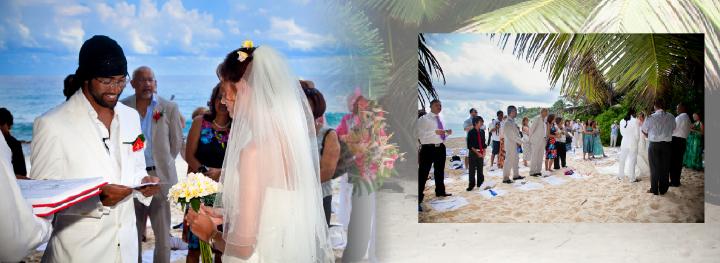 Beach wedding  photography in the Seychelles