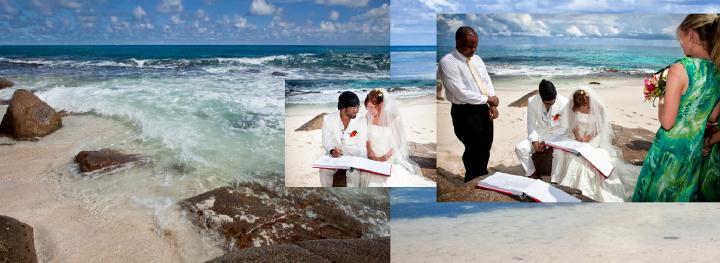 beach wedding in the Seychelles