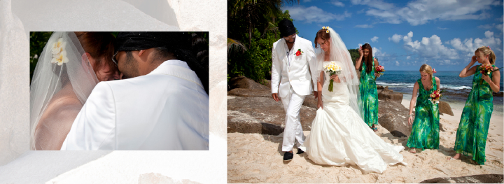 romantic beach wedding in the Seychelles