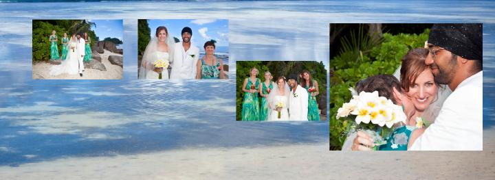 group wedding photos by the sea