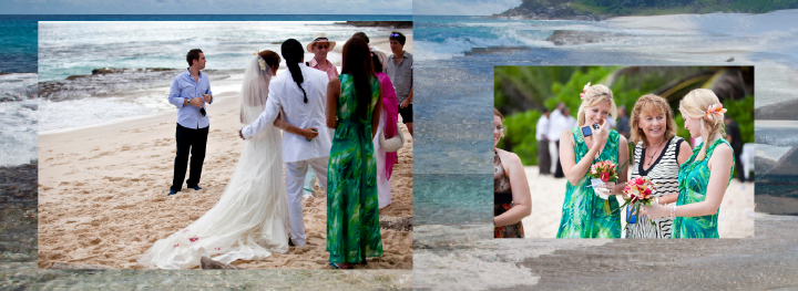 wedding on a beach in the Seychelles