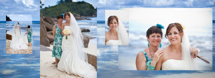 wedding photos by the sea in the Seychelles