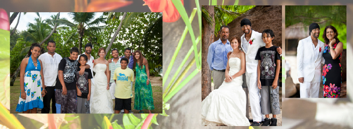 Wedding pictures of local Seychelles families on the Groom's side