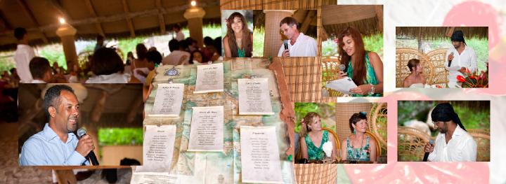 wedding speeches at Cap Lazare in Mahe