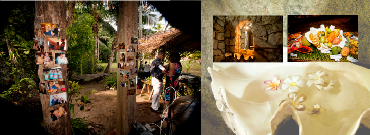 photos and Seychelles wedding reception venue details