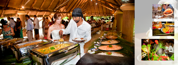 Seychelles wedding banquet